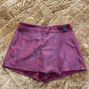 Red/Black Snakeskin Skort